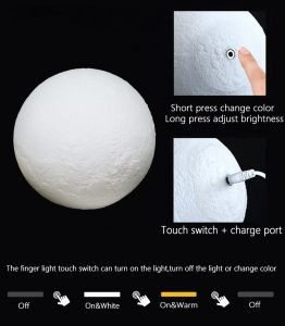 How to use moon lamp