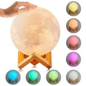 Ultimate Multicolours Moon Lamp 18CM