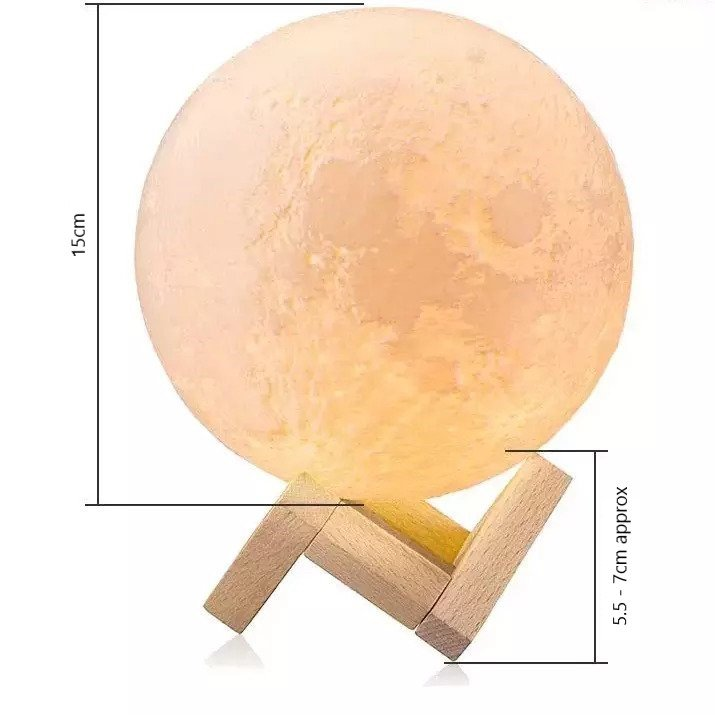 moon lamp size mearsurement 15cm