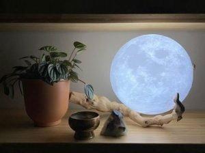 Moon Lamp at Home