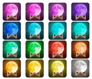 ALL 16 colours moon lamp