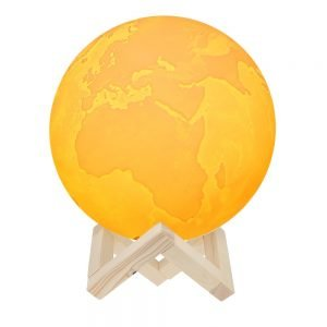 3D Printing Earth Lamp (WHITE 15cm)