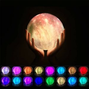 16 Color 3D Galaxy Star Kids LED Luna Lamp 15CM AU