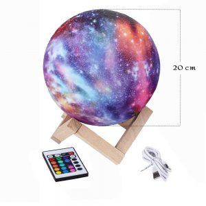 16 Color 3D Galaxy Star Kids LED Luna Lamp 20CM AU (20CM)