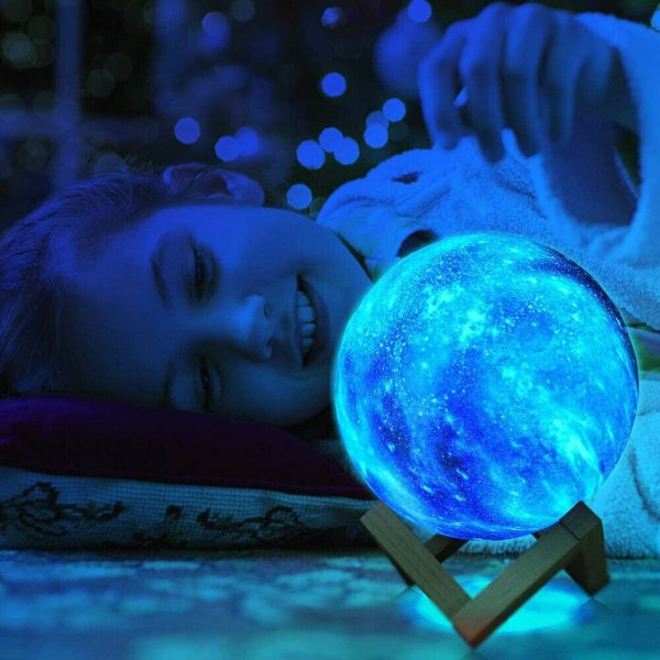 16 Color 3D Galaxy Star Kids LED Luna Lamp 18CM AU