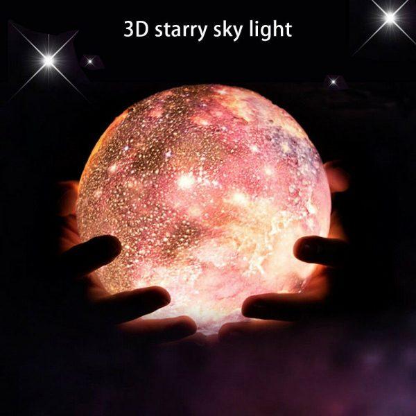 16 Color 3D Galaxy Star Kids LED Luna Lamp 18CM AU