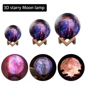 16 Color 3D Galaxy Star Kids LED Luna Lamp 20CM AU